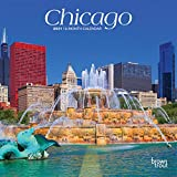 Chicago 2021 7 x 7 Inch Monthly Mini Wall Calendar, USA United States of America Illinois Midwest City