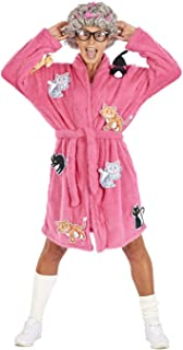 Crazy Cat Lady Adult Costume   Robe & Wig Funny Costume Set   One Size Fits Most