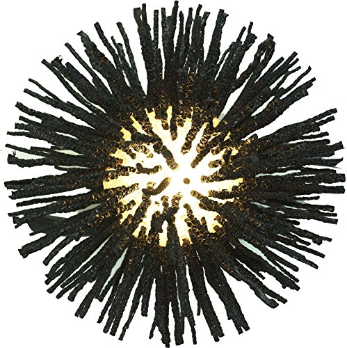 Guru-Shop Wandlamp Kokopelli Urchin Wandlamp H1409, Zwart, Glasvezel, 35x30x40 cm, Wandlampen
