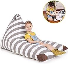 POKONBOY Stuffed Animal Storage Bean Bag, Bean Bag Cover for Organizing Kid's Room,..