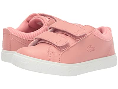 Lacoste Kids Straightset 319 4 (Toddler/Little Kid) (Pink/Off-White) Kid