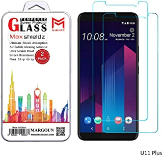 Margoun 2-Pack Tempered Glass Screen Protector for HTC U11 Plus