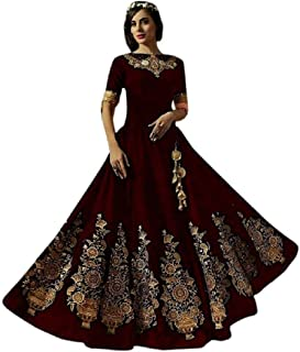 dc33d741fb Silk Women's Ethnic Gowns: Buy Silk Women's Ethnic Gowns online at ...