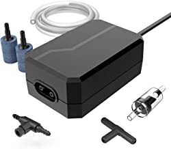 Homasy Upgraded Aquarium Air Pump, Easy to Use Quiet High Energy Saving Oxygen Pump for Fresh & Saltwater with 2 Air Outlets/Stones/Tubes, 1 Check Valve & Adjustable Air Valve & 3-Way Connector