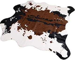 MustMat Brown Cow Print Rug 55.1