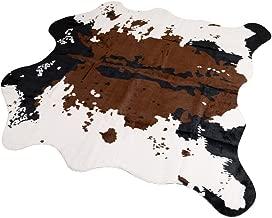 MustMat Brown Cow Print Rug 55.1