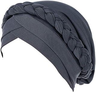Miss Fortan Turbante Capelli Donna Stampa di Cotone Cappello da Chemioterapia Sciarpa Hijab Copricapo Musulmano Islamico Medio Oriente Headwrap cap Berretto Headwear