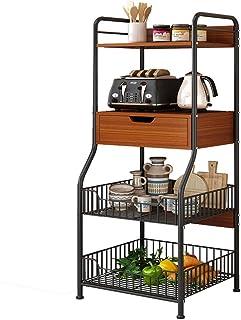 Four Micro-Ondes Rack d'armoires de Cuisine étagèr Durable Kitchen Baker Rack Utility Storage 4 Tablettes Niveau De Platea...
