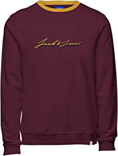 JACK&JONES Men's Bordeaux 12180671 JOROLYMPUS Sweat Crew Neck BF Sweatshirt