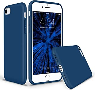 """SURPHY Silicone Case for iPhone SE Case 2020, for iPhone 8 Case iPhone 7 Case, Liquid Silicone Phone Case (with Microfiber Lining) for iPhone 7 iPhone 8 iPhone SE 2nd 4.7"""" (Blue Horizon)"""