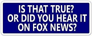 Anti Fox News Pro Democrat Vinyl Bumper Sticker Decal 3