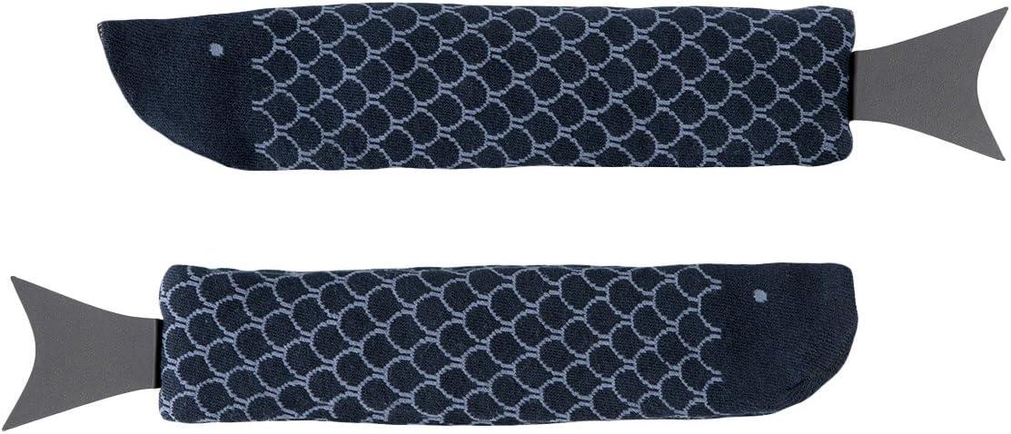 Doiy Limitada Peces Calcetines Azul Marino, Multicolor, 2Piezas