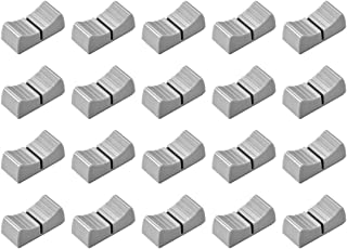 uxcell 24mmx11mmx10mm Console Mixer Slider Fader Knobs Replacement for Potentiometer White Knob Black Mark 10pcs