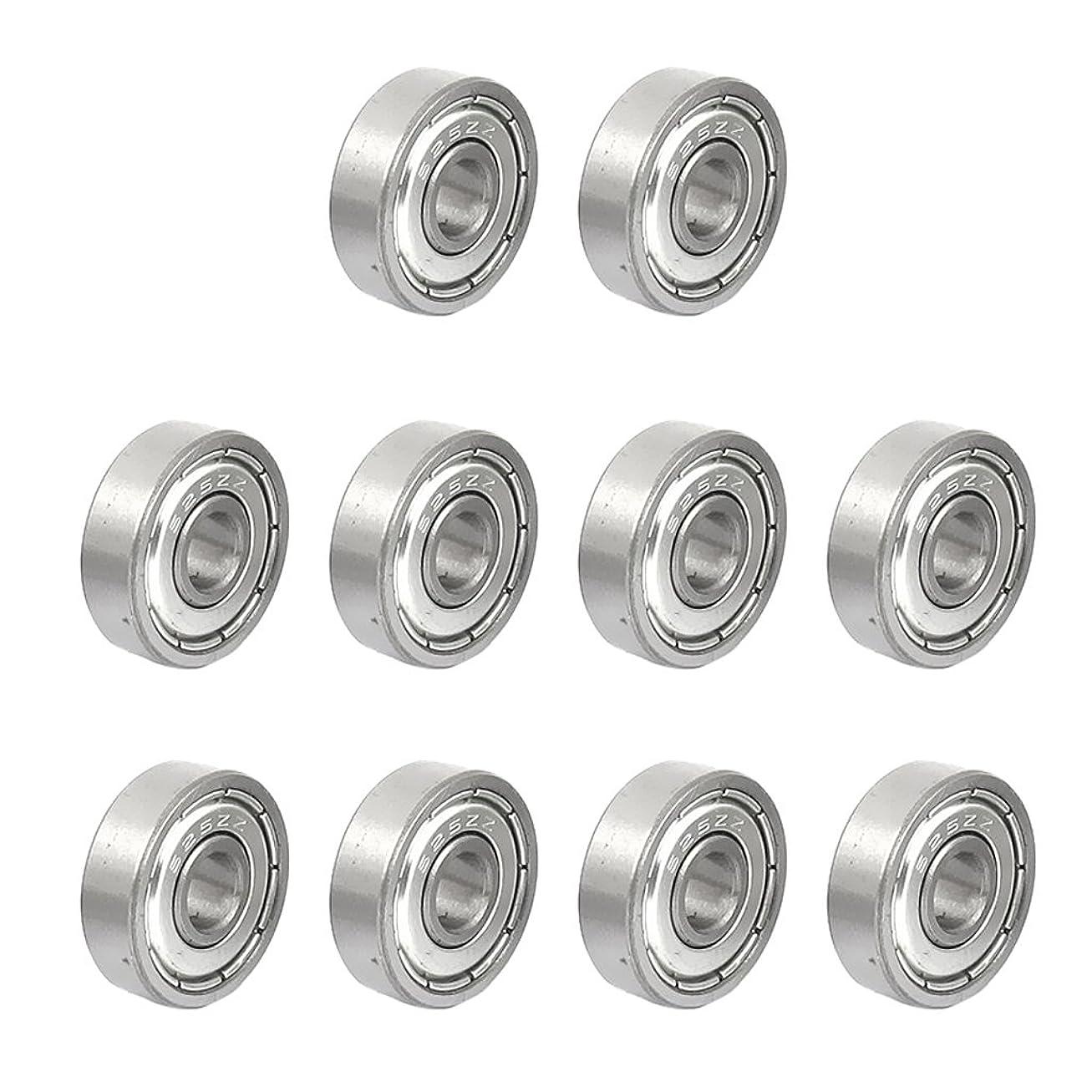 静けさ記事防ぐ全6サイズ選べる 10個入り 高品質 ラジアル ボール ベアリング 3D プリンタ 部品 ミニベアリング 小型モーター、家庭用、搬送場など用 - 625zz