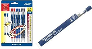Pack of 6 Staedtler Riptide 0.7 Mechanical Pencils with Staedtler Mars Micro Carbon Lead -HB- 0.7mm Bundled by Maven Gifts