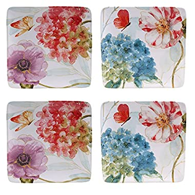 Certified International Rainbow Seeds Salad/Dessert Plates (Set of 4), 8.5 , Multicolor
