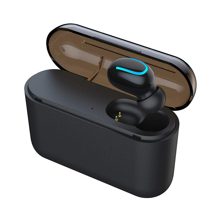 Byakov Wireless Earbud Bluetooth 5.0 Headphone True Wireless Earphone in-Ear Noise Cancelling Headset with Portable Charging Case (Single Earbud)