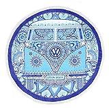 VW Campervan Round Beach Towel Blue 150cm 公式ライセンス品 フォルクスワーゲン ビーチタオル 車 コットンベロア100% [並行輸入品]