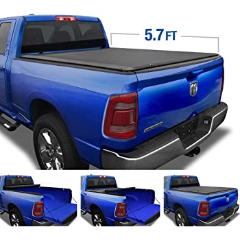 fits 2019 Ram 1500 New Body Style 57 Bed 885901 TruXedo Edge Soft Roll-up Truck Bed Tonneau Cover