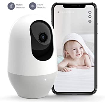 Nooie Baby Monitor, WiFi 1080P, , 360-Degree Wireless IP Home Security Camera, IR Night Vision, 2-Way Audio, Motion and Sound Detection