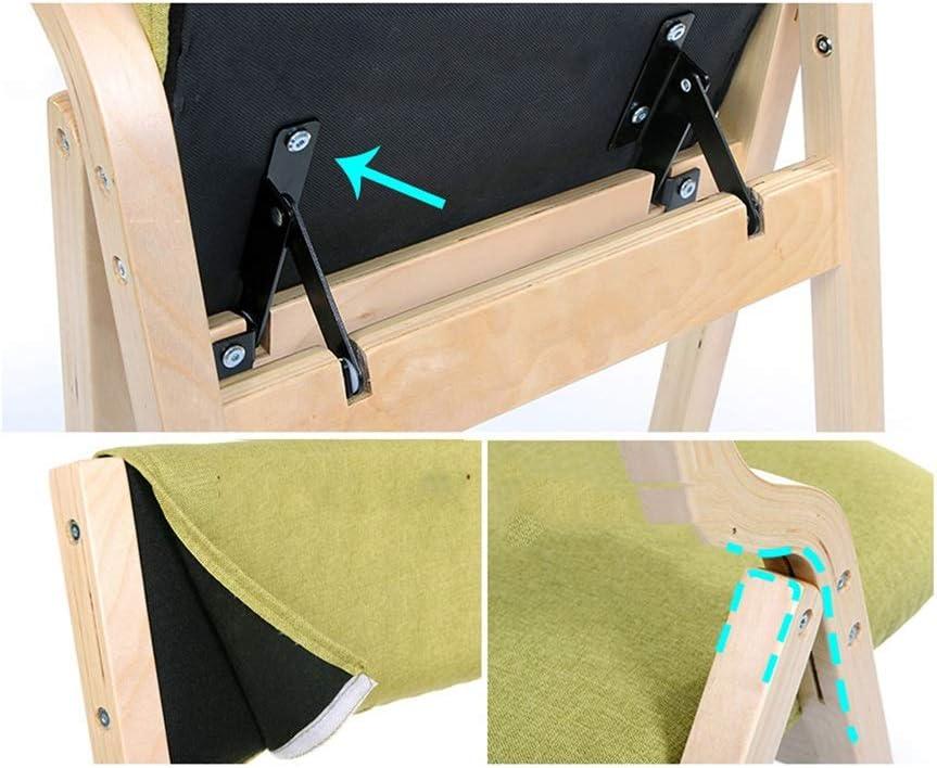 LGQ-JJU Chaise Pliante Imprimée, Banc En Bois De Chaise De Bureau Portatif De Chaise De Dossier De Chaise De Salle À Manger Nordique À La Maison Nordique (Color : C) E