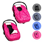 Cozy Cover Premium Infant Car Seat Cover (Pink) with Polar Fleece - The Industry Leading Infant Carrier Cover Trusted by Over 6 Million Moms for Keeping Your Baby Warm