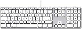 Apple MB110 - Teclado (USB, Alámbrico, Estándar, Derecho, Aluminio, Aluminio) (Reacondicionado)