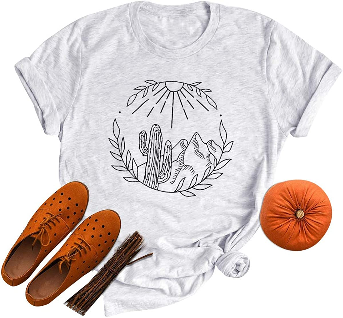 GEMLON Cactus T Shirt Women Nashville-Davidson Mall Graphic Super beauty product restock quality top! Travel Retro Western