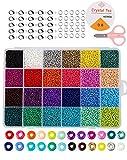 non-branded Cuentas de Colores 2mm Mini Cuentas y Abalorios Cristal para DIY Pulseras Collares Bisutería (24 Colores)
