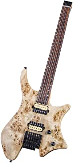 EART Headless Novice Entry Professional-grade Double Shake W1 Headless Solid-Body Electric Guitar Metal Rock Guitar Instrument,Natural