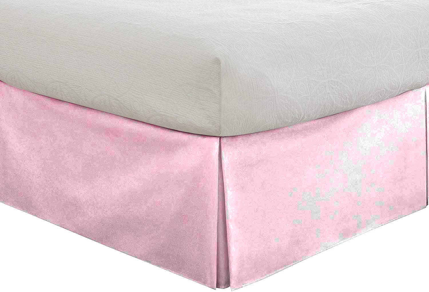 Epic Cotton Tailored Bedskirt - Courier All items in the store shipping free 24 Drop TwinXL inch Pink Baby
