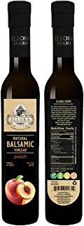 Sponsored Ad - Ellora Farms, Fresh Peach Infused Balsamic Vinegar, All Natural, No-Additives, No-Added Sugar, No-Preservat...
