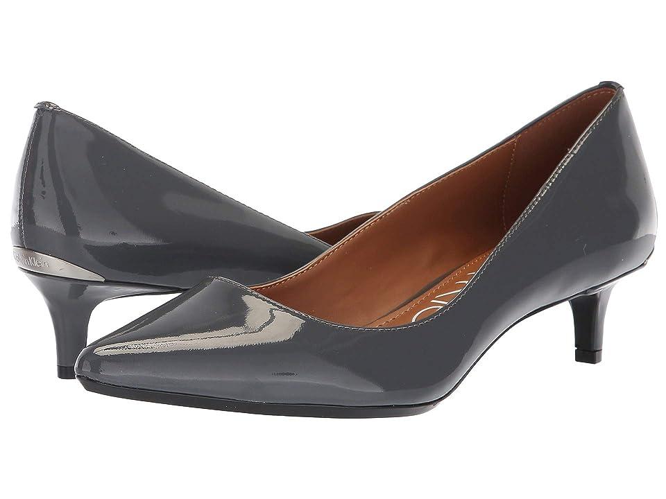 Calvin Klein Gabrianna Pump (Steel Greystone Patent) Women