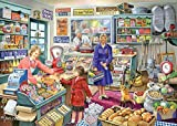 Mini Rompecabezas en Miniatura de 1000 Piezas para Adultos Tienda de comestibles Cartón Puzzle Brain Ejercicio Desafío Juego de Alta dificultad Regalo para niños Niños 38 * 26cm
