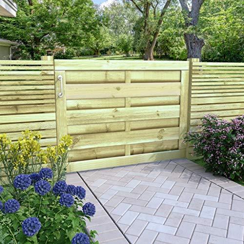 Tidyard- Gartentor Hoftor Imprägnierte Kiefer 100 x 75 cm Holzgartentor Gartentür Zauntür Gartenzaun Holz Garten holztor für Garten oder Terrasse