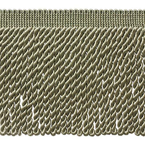 DÉCOPRO 5 Yard Value Pack - 6 Inch Long Seacrest Green Bullion Fringe Trim, Basic Trim Collection, Color: G15 (15 Ft / 4.5 Meters)