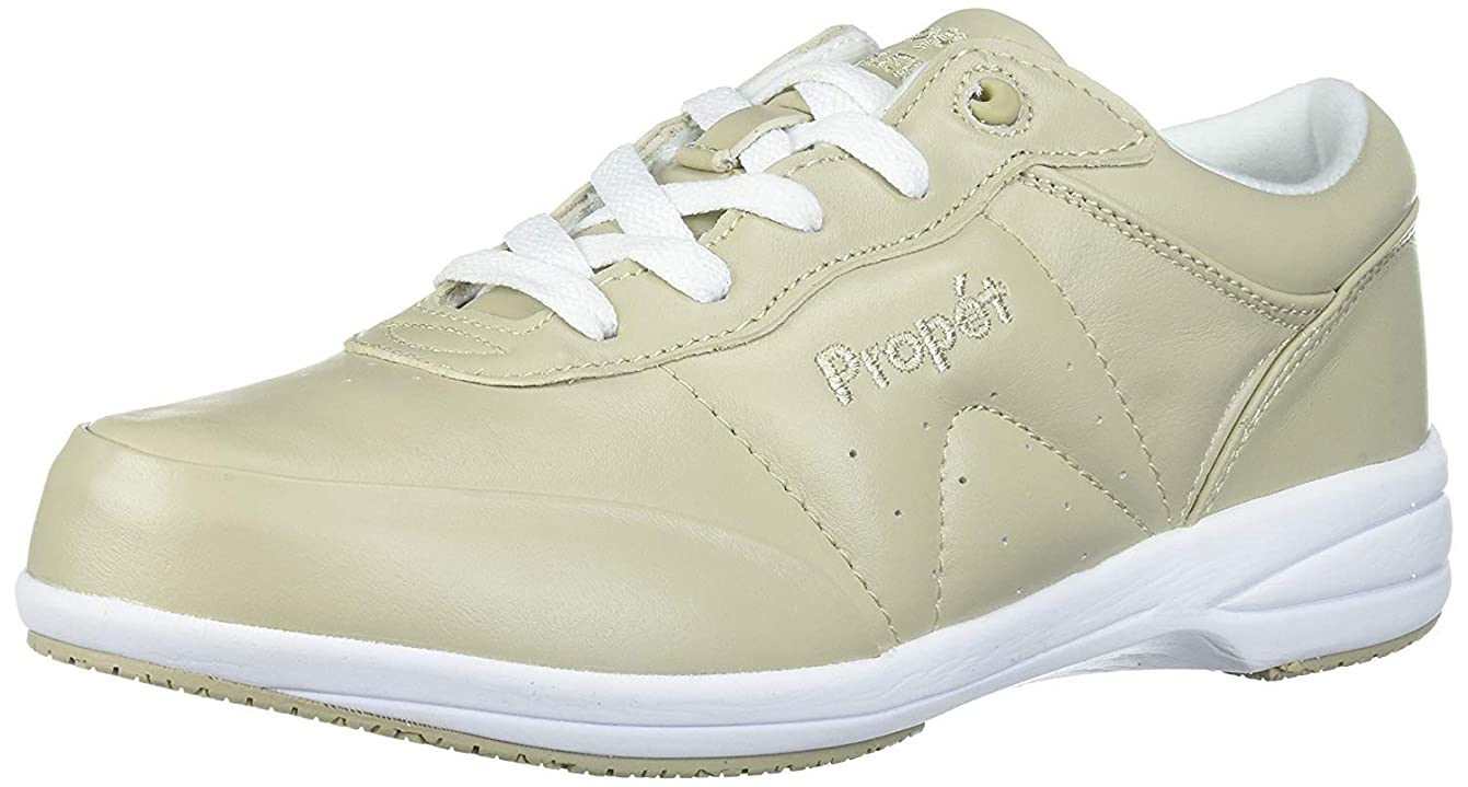 ロケット拳援助する[Propét] Womens washable walker Leather Low Top Lace Up Fashion Sneakers [並行輸入品]