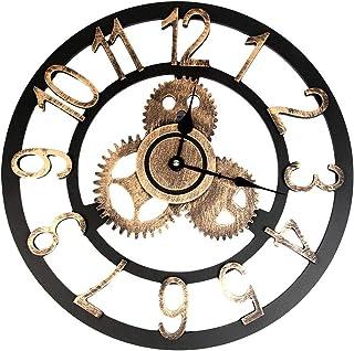 Industrial Style Vintage Clock European Steampunk Gear Wall Home Decoration