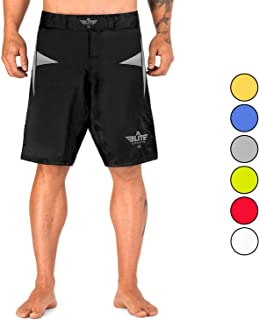 Elite Sports Men�s MMA Fight Shorts, Star Series UFC, BJJ, No Gi, Grappling, Jiu Jitsu Shorts