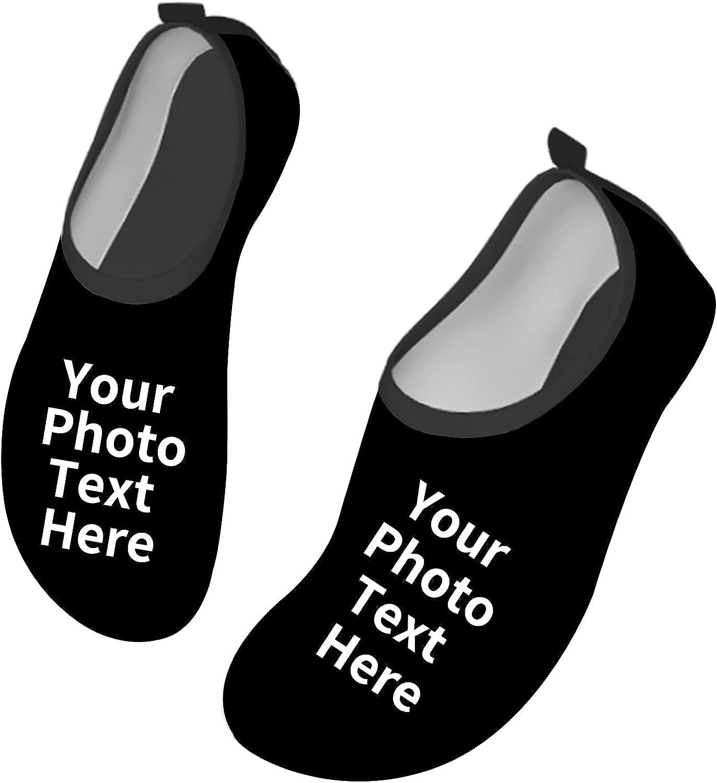 Kanwode Custom Water Shoes Personalized Water Sport Shoes for Men Women Barefoot Quick-Dry Aqua Socks Slip-on for Beach Swim Yoga