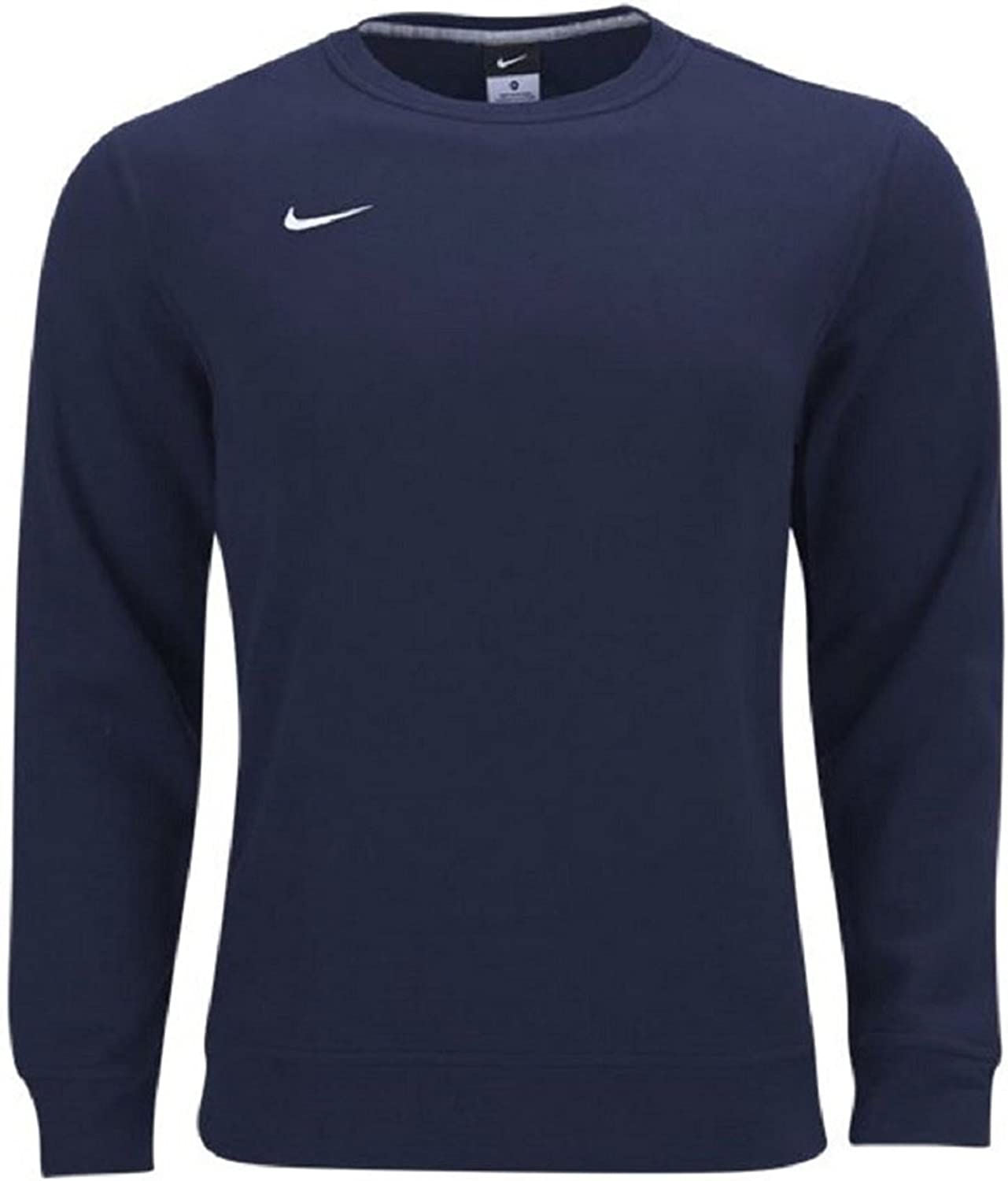 Special sale item Nike Mens Team Club Fleece White Navy OFFicial XX-Large Sweater Crew