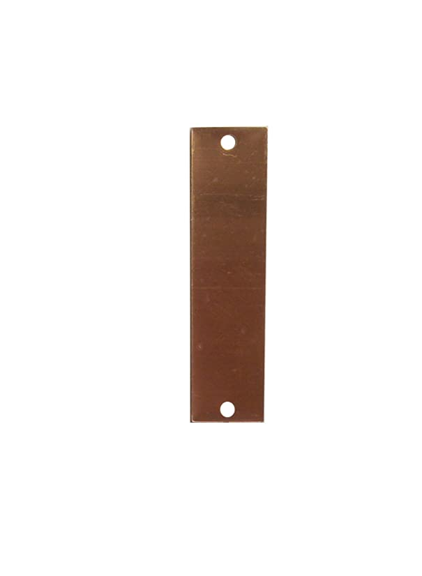 RMP Stamping Blanks, 1/2 Inch x 2 Inch Rectangle with Two Holes, 16 Oz. Copper (.021) - 10/Pack