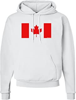 TooLoud Canadian Flag Maple Leaf Colors Hoodie Sweatshirt
