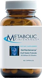 Metabolic Maintenance BioMaintenance 50 Billion CFU Probiotic - Lactobacillus + Bifidobacterium Shelf Stable Probiotics fo...