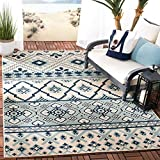 Safavieh Veranda Collection VER097-3934 Indoor/ Outdoor Area Rug, 6' 7' x 9' 6', Turquoise/Blue