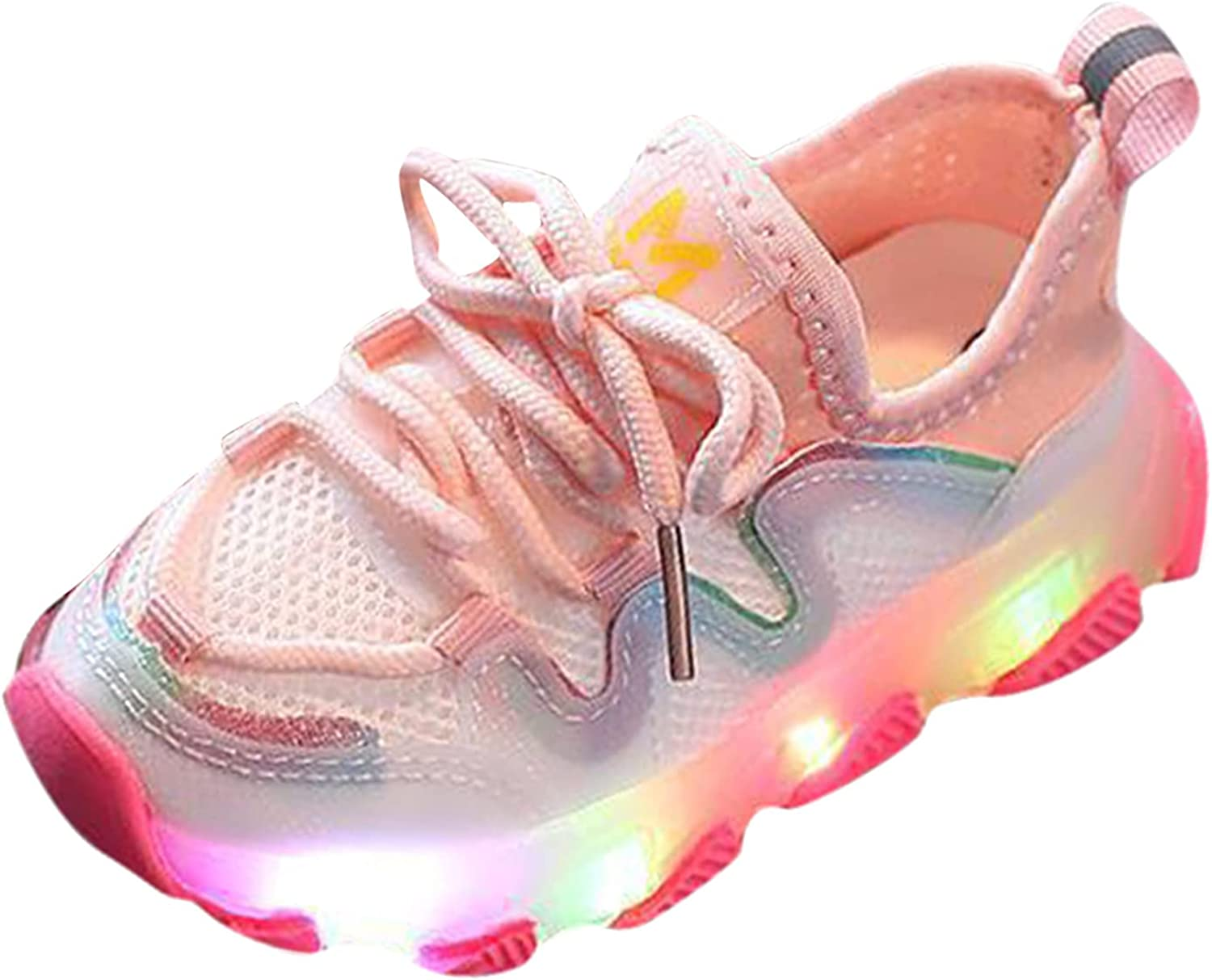 USYFAKGH Kids Light Bombing free shipping Up Shoes Sneakers Ten Running for Girls Recommendation Boys