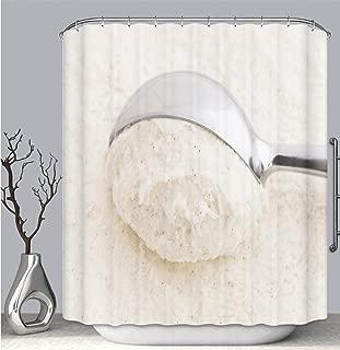 Color Shower Curtain Liner Anti-Mildew Antibacterial, Vanilla Bean Ice Cream Scoop Multi-Color,Custom Shower Curtain Bathtub Bathroom Accessories.