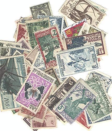Frankreich 50 Briefmarken Kolonien vor Unabhängigkeit Neu & Entwertet (Briefmarken für Sammler)