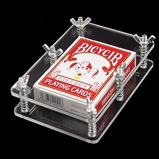 WSNMING Crystal Card Press-Crystal Card Flatten Restore Deformation Magic Tricks Stage Illusions Magic Gimmick Magician Accessories