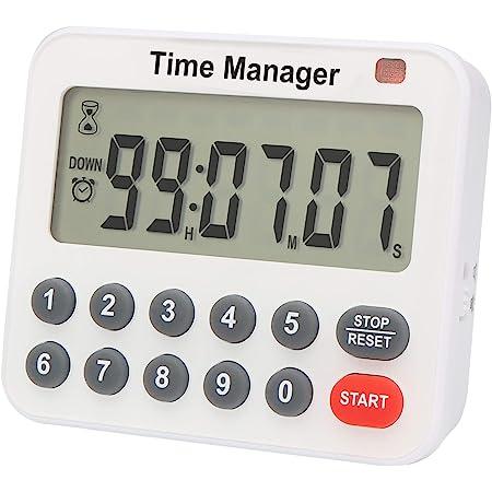 Timer da cucina digitale con conto alla rovescia – AIMILAR magnetico conto-alla rovescia con magnete posteriore allarme forte direttamente ingresso ore minuti e secondi